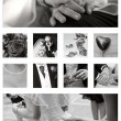 Wedding Collage background collection in black and white — Stock Photo #7131607