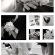 Stock Photo: Wedding Collage collection in black and white