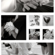 Wedding Collage collection in black and white — Stock Photo #7131619