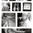 Wedding Collage collection in black and white — Stock Photo #7131625