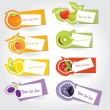 Royalty-Free Stock Vector Image: Vector fruit sticker set