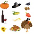 A set of thanksgiving icons  — Vettoriali Stock