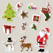 Collection of cute Christmas stickers for your design — Stock Vector #7141664
