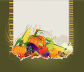 Harvest card — Stock Vector