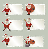 Set of christmas label Santa Claus — Stock Vector