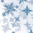 Seamless pattern with snowflakes  — Vektorgrafik