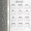 Template for calendar 2012 with flowers — Vecteur #7459132
