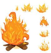 Collection flamme vector — Vecteur