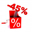 Stockfoto: Discount of 45 percent