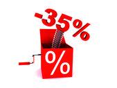 Discount of 35 percent — Stock Photo