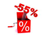 Discount of 55 percent — Stock Photo