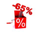 Discount of 65 percent — Stock Photo