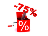 Discount of 75 percent — Stock Photo