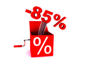 Discount of 85 percent — Stockfoto