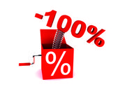 Discount of 100 percent — Stock Photo