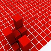 Red square background — 图库照片