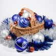 Basket with Christmas toys — Stock Photo #7350941