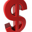 3D red dollar sign — Stock Photo