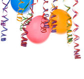 Balloons and confetti — Stockfoto