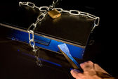 Notebook with chain — Stock Photo
