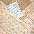 Foto de Stock  : Old letters as background