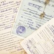 Stock Photo: Old documents and information