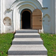 Arched church door — 图库照片