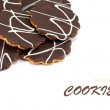 Chocolate cookies — Stock Photo