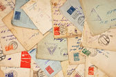 Old envelopes as a background — Stok fotoğraf