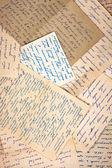 Cartas viejas como telón de fondo — Foto de Stock