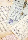 Eski belgeler ve bilgiler — Stok fotoğraf
