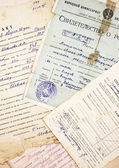 Old documents and information — Stock Photo