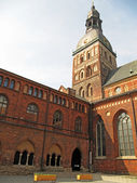 The Dome Cathedral - famous protestant cathedral in Riga, Latvia — 图库照片