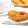 Tasty cookies with cup of tea — Stock Photo