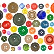 Collection of various buttons - Stock Photo