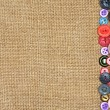Stock Photo: Old colorful buttons on background burlap