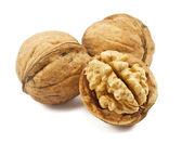 Walnuts isolated on a white background — Stock Photo