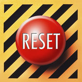 Red reset button — Stock Photo