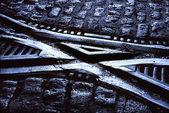 пересечения железной дороги — Стоковое фото