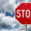 Stock Photo: Stop sign, isolated