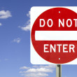 Do not enter, isolated — Stock Photo