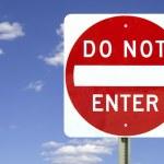 Do not enter, isolated — Stock Photo #7260934