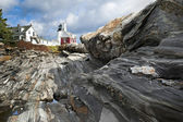 Lighthouse at Pemaquid point — Stock Photo
