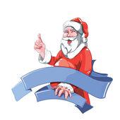Santa Claus Pointing — Stock Vector