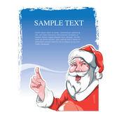 Santa claus polohovací — Stock vektor