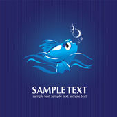 Blue fish — Stock Vector