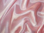 Draped pink satin - fabric background — Stock Photo