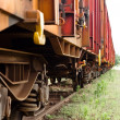 Old trains parking at trainstation - Foto Stock