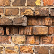 Brick wall texture with a lot of cracks — Stock fotografie