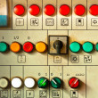 Stock Photo: Many big buttons on industrial board